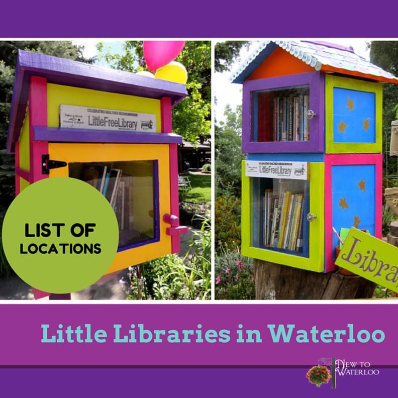 Little Libraries in Neighbourhoods in Waterloo Ontario