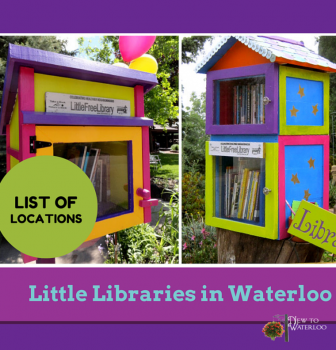 Little Libraries in Neighbourhoods in Waterloo Ontario